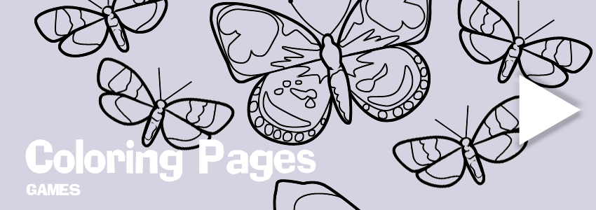 Butterflies print-out coloring pages