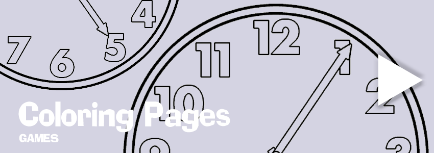 Clocks print-out coloring pages