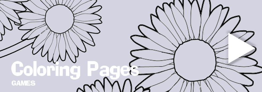 Flowers print-out coloring pages