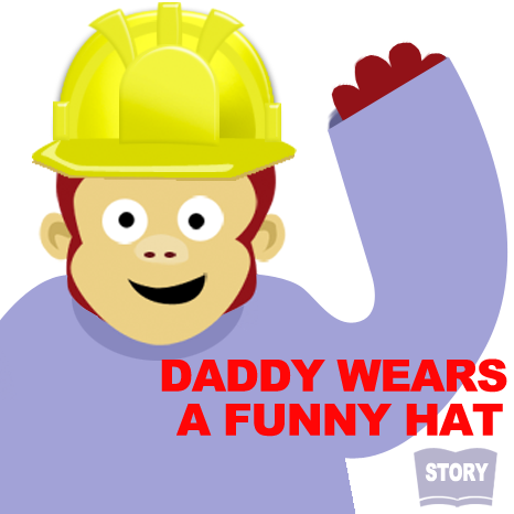 Daddy wears a funny hat interactive story